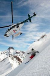 Helitrax heli-ski company takes skiers from Telluride to pristine ski spots across the San Juan Mountains.